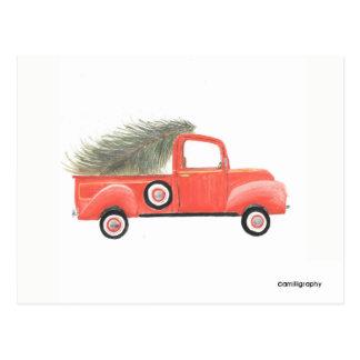 Nana's Red Truck Postcard