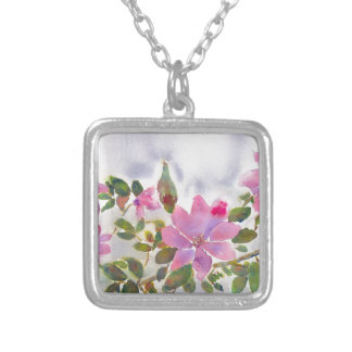 Nana's Roses Silver Plated Necklace