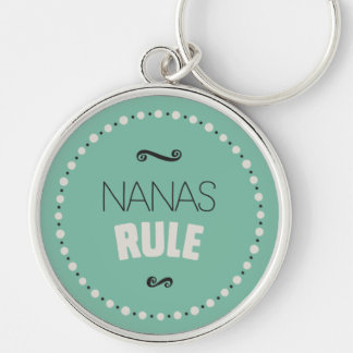Nanas Rule Keychain – Green