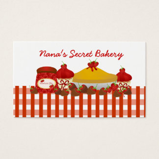 Nana's Secret Bakery Business Card
