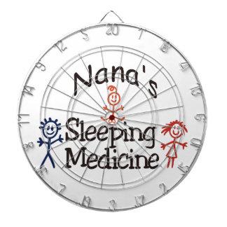 Nanas Sleeping Medicine Dartboard With Darts