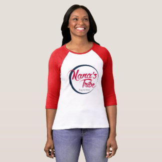 Nana's Tribe Baseball 3/4 Sleeve - Blue Logo T-Shirt