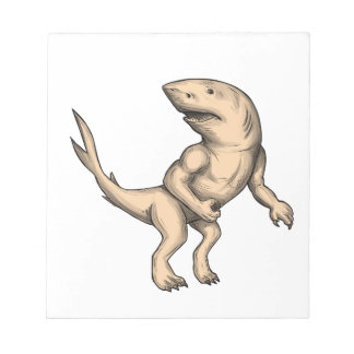 Nanaue Fighting Stance Tattoo Notepad