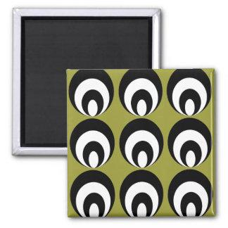 Nancy - black/white fridge magnets