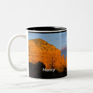 Nancy on Moonrise Glowing Red Rock Mug