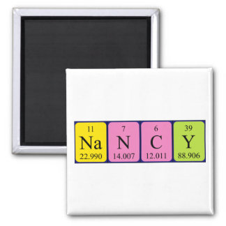 Nancy periodic table name magnet