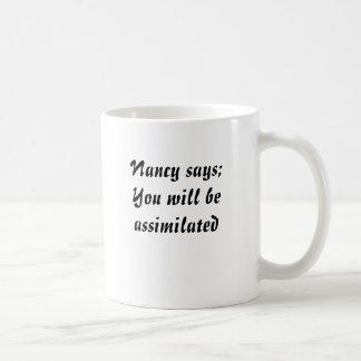 Nancy says basic white mug