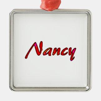 Nancy Silver-Colored Square Decoration