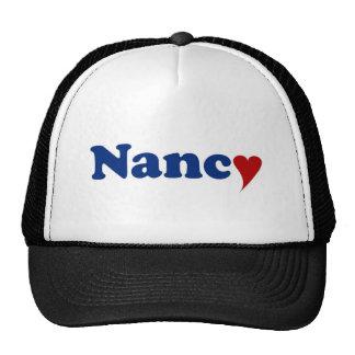 Nancy with Heart Trucker Hats