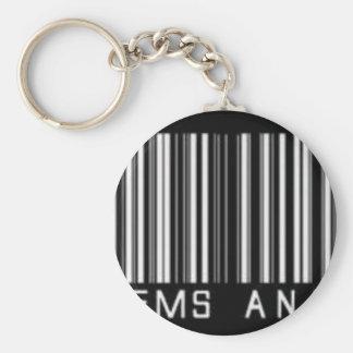 Nanda's produtos basic round button key ring