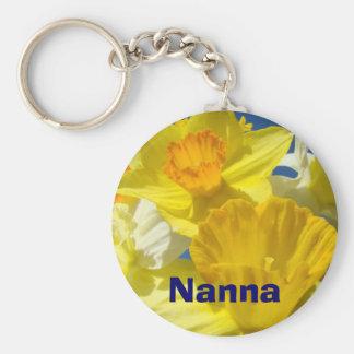 Nanna keychains Yellow Daffodil flowers Floral