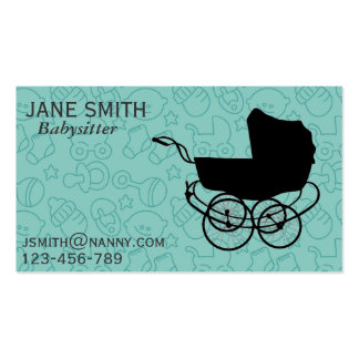 Nanny Au Pair babysitter freelance Business Card