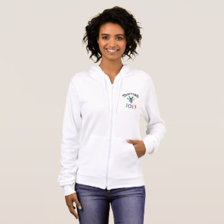 Nanny Flag Goat, Double-Sided Ladies Hoodie
