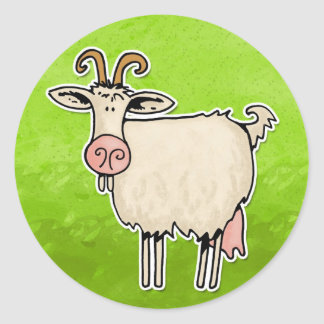 nanny goat classic round sticker