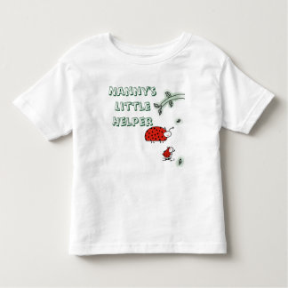 Nanny's  Little  Helper Lady bug cool hip custom Toddler T-Shirt