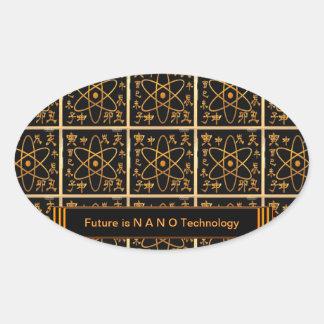 NANO Technology is future Oval Sticker