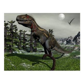 Nanotyrannus dinosaur - 3D render Postcard