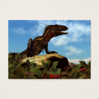 Nanotyrannus dinosaur resting - 3D render Business Card