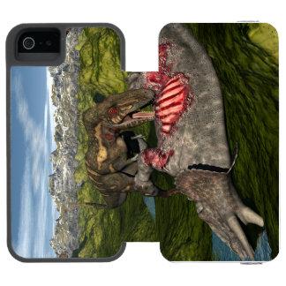 Nanotyrannus eating dead triceratops incipio watson™ iPhone 5 wallet case