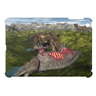 Nanotyrannus eating dead triceratops iPad mini cases