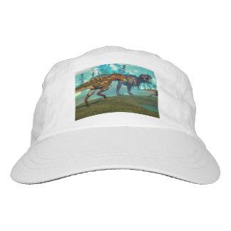 Nanotyrannus hunting small tyrannosaurus hat