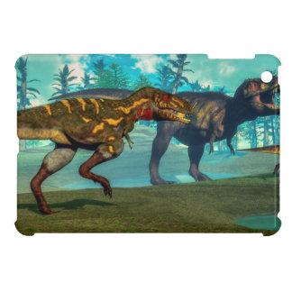 Nanotyrannus hunting small tyrannosaurus iPad mini case
