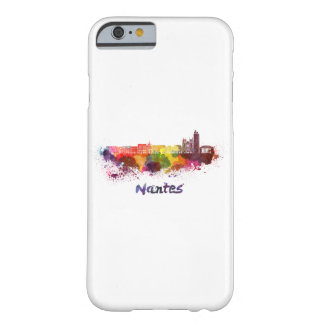 Nantes skyline in watercolor barely there iPhone 6 case