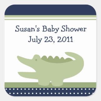 Nantucket Alligator Stickers/Envelope Seals Square Sticker