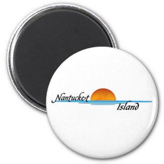 Nantucket Island 6 Cm Round Magnet