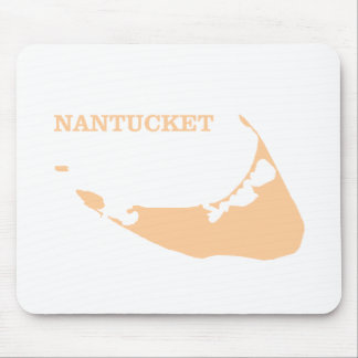 Nantucket Island in Sand Mouse Pad