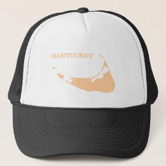 Nantucket Island in Sand Trucker Hat
