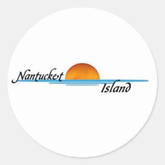 Nantucket Island Round Sticker