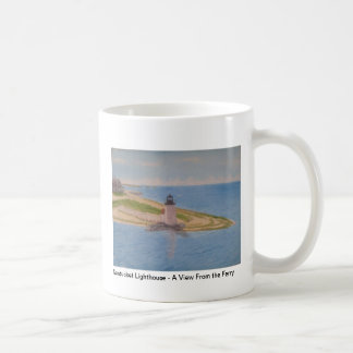 Nantucket Lighthouse - A View From the Ferry IV Classic White Coffee Mug