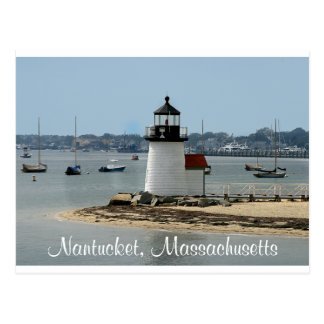 Nantucket MA Brandt Point Lighthouse Post Card
