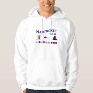 Nantucket MA Signal Flag Hoodie