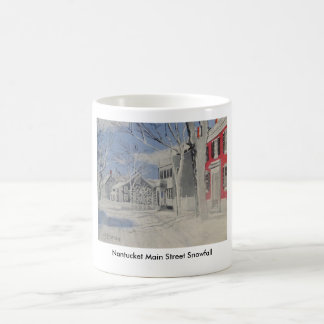 Nantucket Main Street Snowfall Coffee Mug