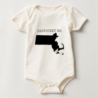 Nantucket Massachusetts Baby Bodysuit