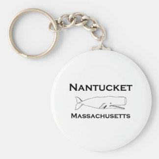 Nantucket Massachusetts Whale Key Ring