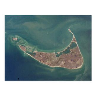 Nantucket Satellite Photograph Postcard