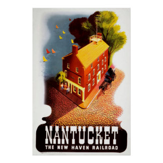 Nantucket The New Haven Railroad Vintage Poster