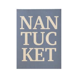 Nantucket Wood Panel art Wood Poster