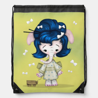 NAOMI ALIEN MONSTER CARTOON Drawstring Backpack