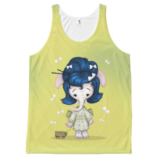 NAOMI CUTE ALIEN All-Over Printed Unisex Tank
