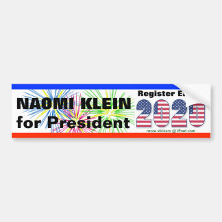 NAOMI KLEIN FOR PRESIDENT 2020 - BUMPER STICKER