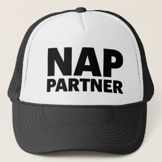 NAP PARTNER fun slogan trucker hat