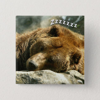 Nap Time Bear 15 Cm Square Badge