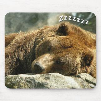 Nap Time Bear Mouse Pad