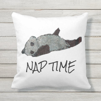 Nap Time Panda Outdoor Cushion