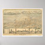 Napa, CA. Panoramic Map (0684A) Posters
