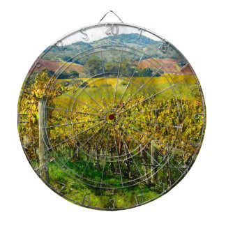 Napa Valley California Vineyard Dartboard